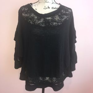 Black Lace free People blouse